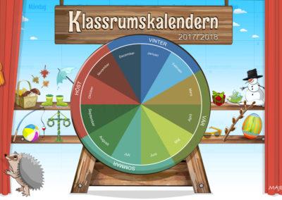 Klassrumskalendern 2017-2018