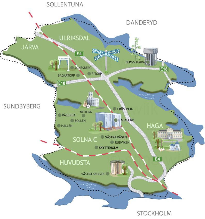karta solna stad Faktaillustration | Stina Wiik karta solna stad